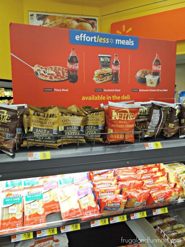 Effortless Meals Display at Walmart #EffortlessMeals
