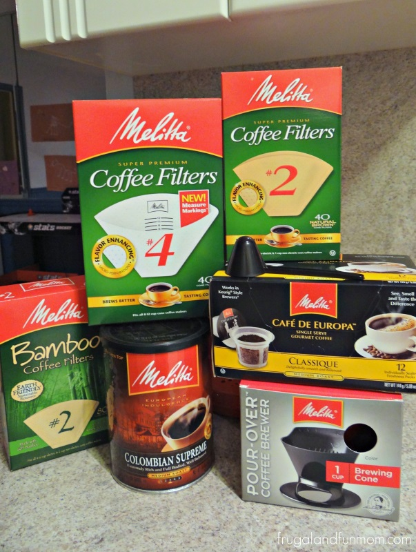 Examples of Melitta Coffee and Filters