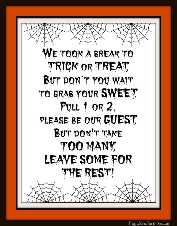 Halloween Saying for Trick or Treat #TrickOrSweet