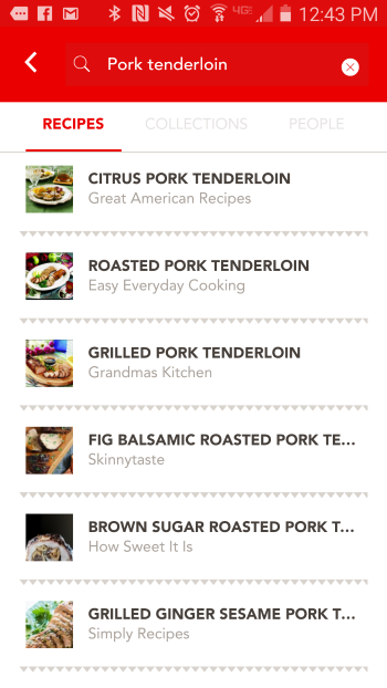 Pork Tenderlion Search Hoorray App