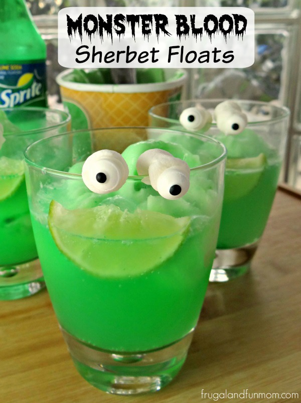 Goosebumps Inspired Monster Blood Sherbet Floats