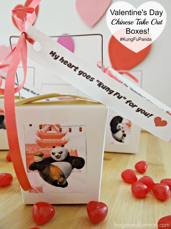 Valentine's Day Chinese Take Out Boxes Inspired by Kung Fu Panda 3