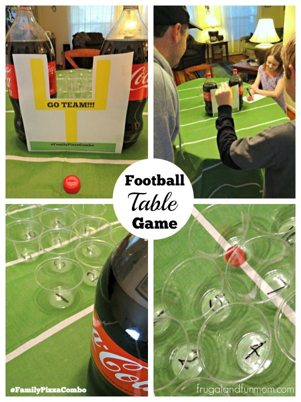 Football Table Game for Family Time #BigGame #FamilyPizzaCombo