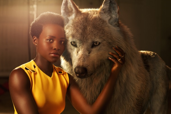 "THE JUNGLE BOOK - Lupita Nyong'o voices Raksha, a mother wolf who cares deeply for all of her pups—including man-cub Mowgli, whom she adopts as one of her own when he's abandoned in the jungle as an infant. ""She is the protector, the eternal mother,"" says Nyong'o. ""The word Raksha actually means protection in Hindi. I felt really connected to that, wanting to protect a son that isn't originally hers but one she's taken for her own."" Photo by: Sarah Dunn. ©2016 Disney Enterprises, Inc. All Rights Reserved."