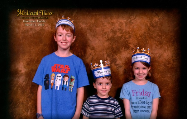 Family Photo at Medieval Times Orlando