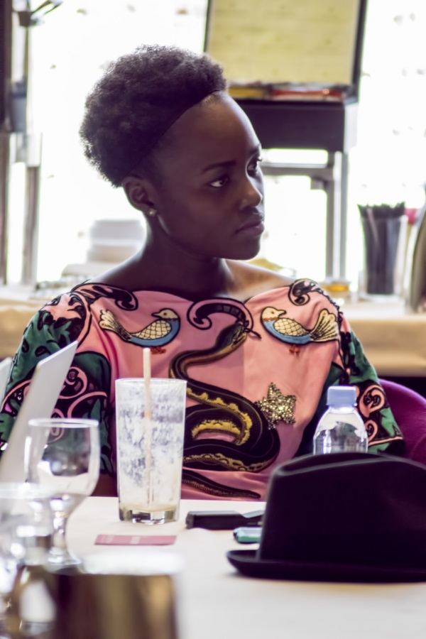 "BEVERLY HILLS - APRIL 04 - Actress Lupita Nyong'o during the ""The Jungle Book"" press junket at the Beverly Hilton on April 4, 2016 in Beverly Hills, California. (Photo by Becky Fry/My Sparkling Life for Disney)"